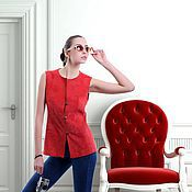 Одежда handmade. Livemaster - original item Coral suede vest. Handmade.