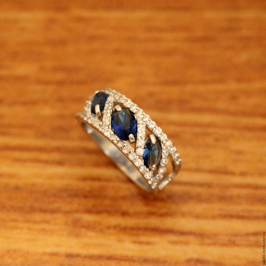 Кольца ручной работы. Ярмарка Мастеров - ручная работа. Купить Серебряное кольцо Византия, серебро 925. Handmade. Тёмно-синий