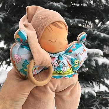 Куклы и игрушки ручной работы. Ярмарка Мастеров - ручная работа Бабочка-сплюшка, вальдорфская куколка. Handmade.