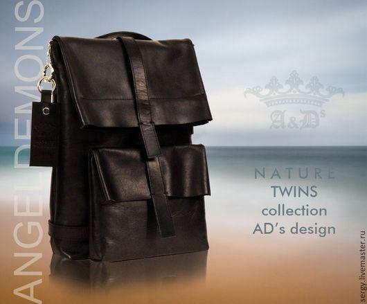 Рюкзаки ручной работы. Ярмарка Мастеров - ручная работа. Купить Рюкзак Twins AD's Belts. Handmade. Черный, рюкзак для девочки