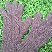Аксессуары ручной работы. Ярмарка Мастеров - ручная работа коричневые перчатки. Handmade.
