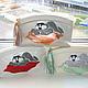 Женские сумки ручной работы. Косметичка из натуральной кожи. Кот лежебока.. ukla. Интернет-магазин Ярмарка Мастеров. Натуральная кожа