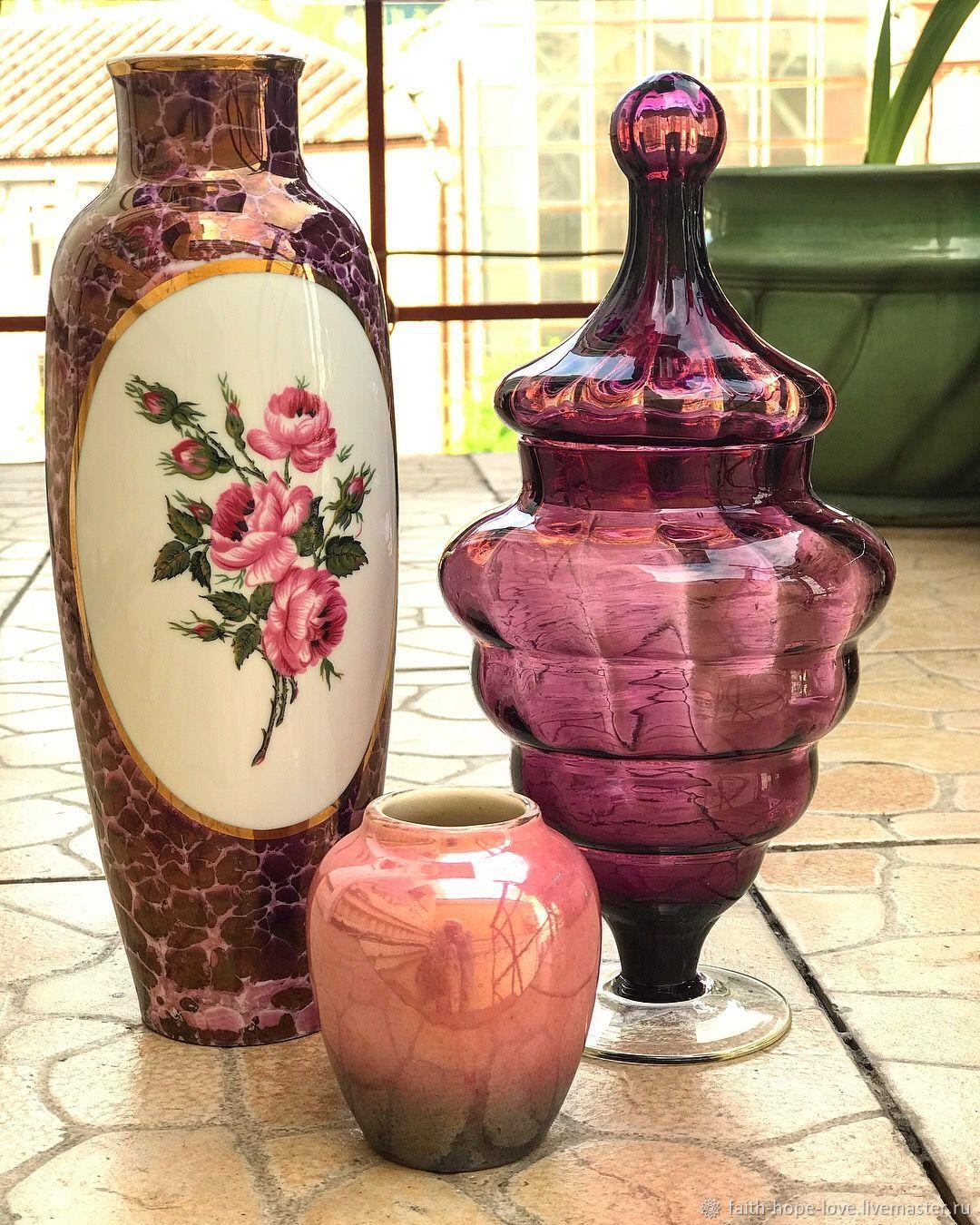Purple Extravaganza. Flower vase. Hollohaza.  Hungary, Vintage interior, Vladivostok,  Фото №1
