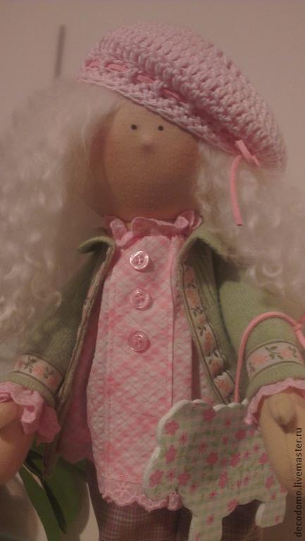 Коллекционные куклы ручной работы. Ярмарка Мастеров - ручная работа. Купить Кукла  Амели. Handmade. Салатовый, кукла в подарок