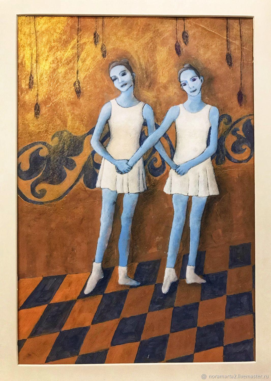 «Балеринка» картина акрилом, Картины, Красноярск,  Фото №1
