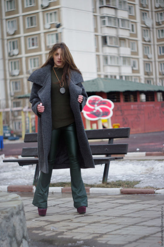 """Верхняя одежда ручной работы. Ярмарка Мастеров - ручная работа. Купить Пальто демисезонное """"Grey town"""". Handmade. Темно-серый"""
