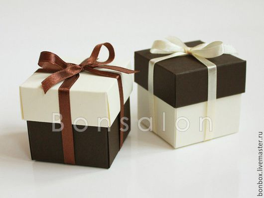 Подарочная упаковка ручной работы. Ярмарка Мастеров - ручная работа. Купить Сборная коробочка, Бонбоньерка 5х5х5 см.. Handmade. Бонбоньерка