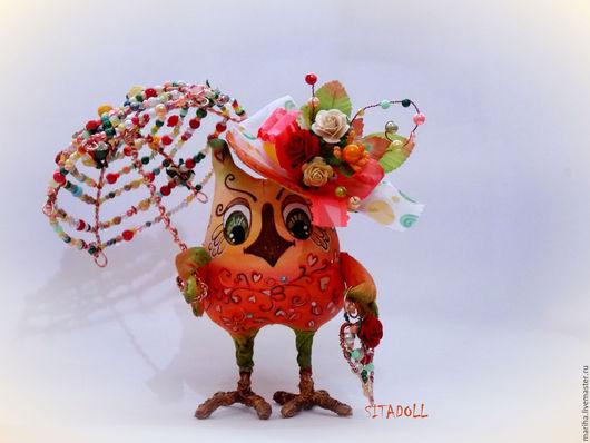 Коллекционные куклы ручной работы. Ярмарка Мастеров - ручная работа. Купить МУДРАЯ СОВА НА ЗАКАЗ. Handmade. Рыжий, подарок