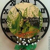 """Для дома и интерьера ручной работы. Ярмарка Мастеров - ручная работа Часы настенные """"Ландыши"""" на кронштейне. Handmade."""