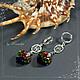 Earrings with Swarovski crystals 'Part of the rainbow' 925 silver, Earrings, Yaroslavl,  Фото №1