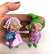 Куклы и игрушки ручной работы. Ярмарка Мастеров - ручная работа Эльфы фиалок. Handmade.