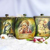 Для дома и интерьера ручной работы. Ярмарка Мастеров - ручная работа Короб для сыпучих В русском стиле. Handmade.