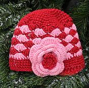 """Работы для детей, ручной работы. Ярмарка Мастеров - ручная работа Шапочка для девочки """"Розовый цветок"""". Handmade."""