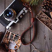 Ремни ручной работы. Ярмарка Мастеров - ручная работа Ремень кистевой для фотокамеры Heather. Handmade.