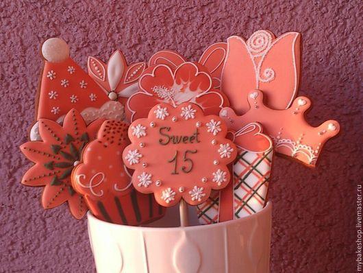 """Кулинарные сувениры ручной работы. Ярмарка Мастеров - ручная работа. Купить """"Sweet 15"""" набор пряников - козуль на день рождения. Handmade."""