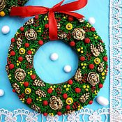 Сувениры и подарки handmade. Livemaster - original item Gingerbread Christmas wreath. Christmas gingerbread. Handmade.