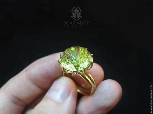 """Кольца ручной работы. Ярмарка Мастеров - ручная работа. Купить Золотое кольцо """"Одуван"""". Handmade. Золотой, стильное украшение"""