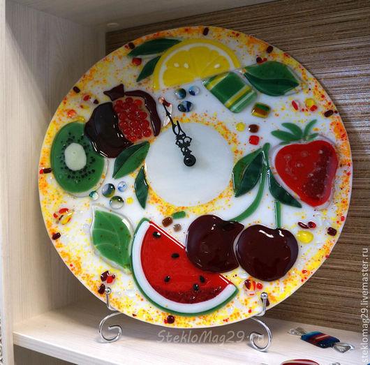 "Часы для дома ручной работы. Ярмарка Мастеров - ручная работа. Купить Часы ""Фрукты"". Handmade. Часы настенные, часы для дома"