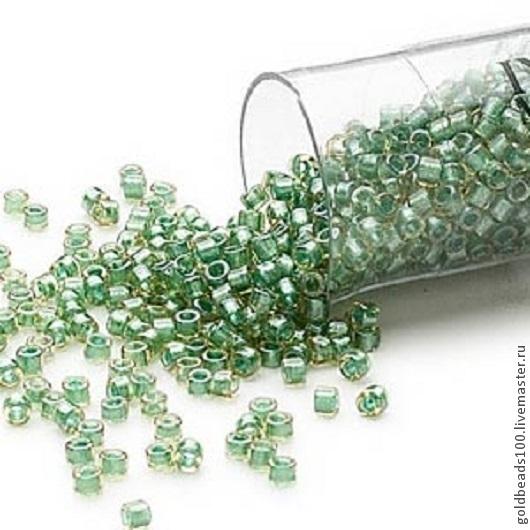 Для украшений ручной работы. Ярмарка Мастеров - ручная работа. Купить 10 ГР MIYUKI DELICA 11/0 color-lined leaf green DB917. Handmade.