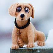 Куклы и игрушки ручной работы. Ярмарка Мастеров - ручная работа Игрушка из шерсти, валяная собака Альтаир. Handmade.