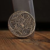 Сувениры и подарки handmade. Livemaster - original item A bead for a brooch made of bronze Geese. Handmade.