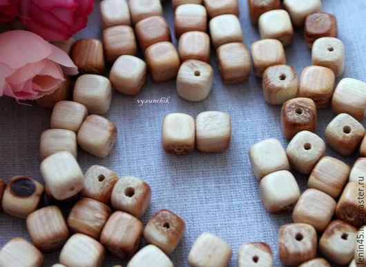 Для украшений ручной работы. Ярмарка Мастеров - ручная работа. Купить Можжевеловый кубик 10 мм. Handmade. Можжевеловые бусины