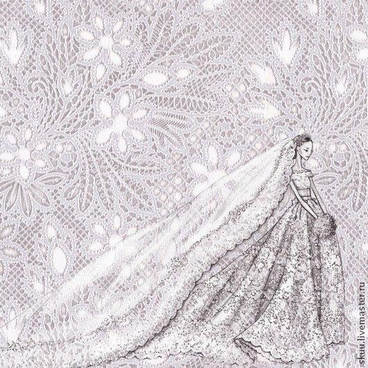 Бумага свадебная для скрапбукинга