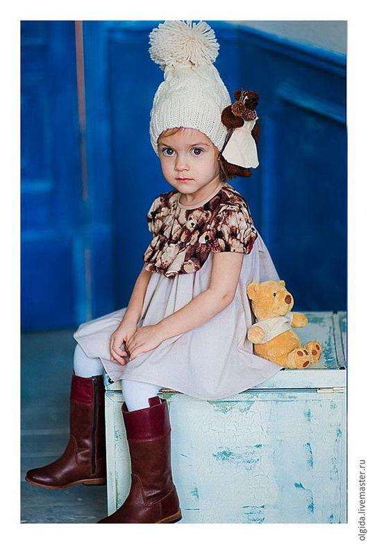 Одежда для девочек, ручной работы. Ярмарка Мастеров - ручная работа. Купить МИШКА ТЕДДИ платье. Handmade. Платье для девочки