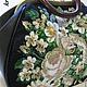 Женские сумки ручной работы. Кожаная женская сумка-саквояж с вышивкой, на металлическом фермуаре. Ирина (kruna). Ярмарка Мастеров.