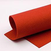 Материалы для творчества ручной работы. Ярмарка Мастеров - ручная работа Корейский мягкий фетр 1,5 мм, ST-12(красный). Handmade.
