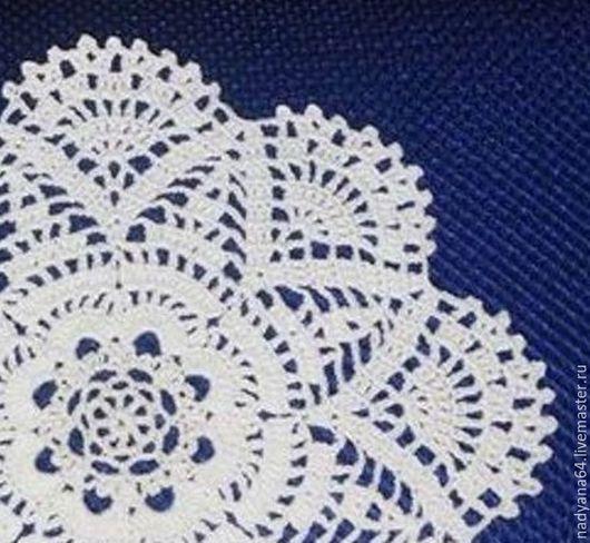 """Текстиль, ковры ручной работы. Ярмарка Мастеров - ручная работа. Купить Салфетка """"Жади"""". Handmade. Белый, готовая работа"""