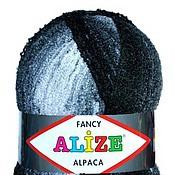 Материалы для творчества ручной работы. Ярмарка Мастеров - ручная работа Огромный моток буклированной пряжи ALIZE FANCY RAINBOW ALPACA. Handmade.