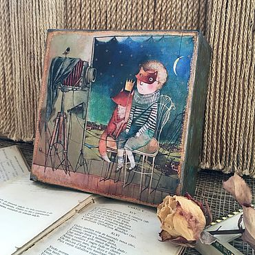 Для дома и интерьера ручной работы. Ярмарка Мастеров - ручная работа Шкатулка « Маленький принц». Handmade.