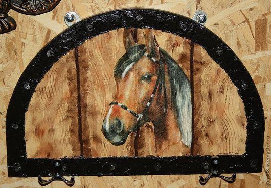 """Прихожая ручной работы. Ярмарка Мастеров - ручная работа. Купить Вешалка-ключница """"Любимый конь"""". Handmade. Коричневый, ключница, конь"""