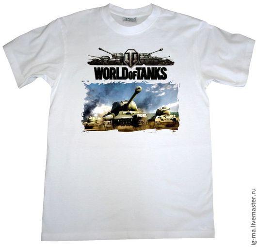 Футболки, майки ручной работы. Ярмарка Мастеров - ручная работа. Купить World of tanks(футболка с рисунком с двух сторон). Handmade.