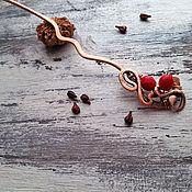 Украшения ручной работы. Ярмарка Мастеров - ручная работа Брусники аромат Шпилька. Handmade.