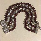 Винтаж handmade. Livemaster - original item Ellen Tracy designer bracelet, crystal and beads. Handmade.