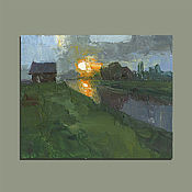 Картины и панно handmade. Livemaster - original item misty morning. Oil painting. Handmade.