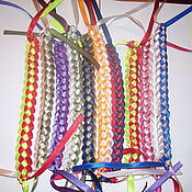 Украшения ручной работы. Ярмарка Мастеров - ручная работа Фенечки двухцветные. Handmade.