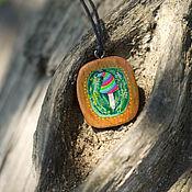 Украшения handmade. Livemaster - original item Pendant made of wood and resin
