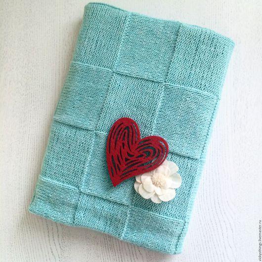 Пледы и одеяла ручной работы. Ярмарка Мастеров - ручная работа. Купить Плед детский вязаный Tot (мятный). Handmade. Комбинированный