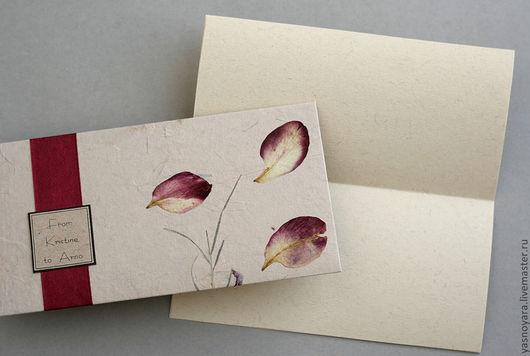 Бумажный вкладыш для письма можно заказать отдельно.