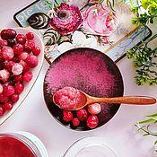 Скрабы ручной работы. Ярмарка Мастеров - ручная работа Скраб сахарный гидрофильный для тела Клюква в сахаре розовый подарок. Handmade.
