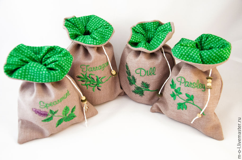Травяные мешочки своими руками