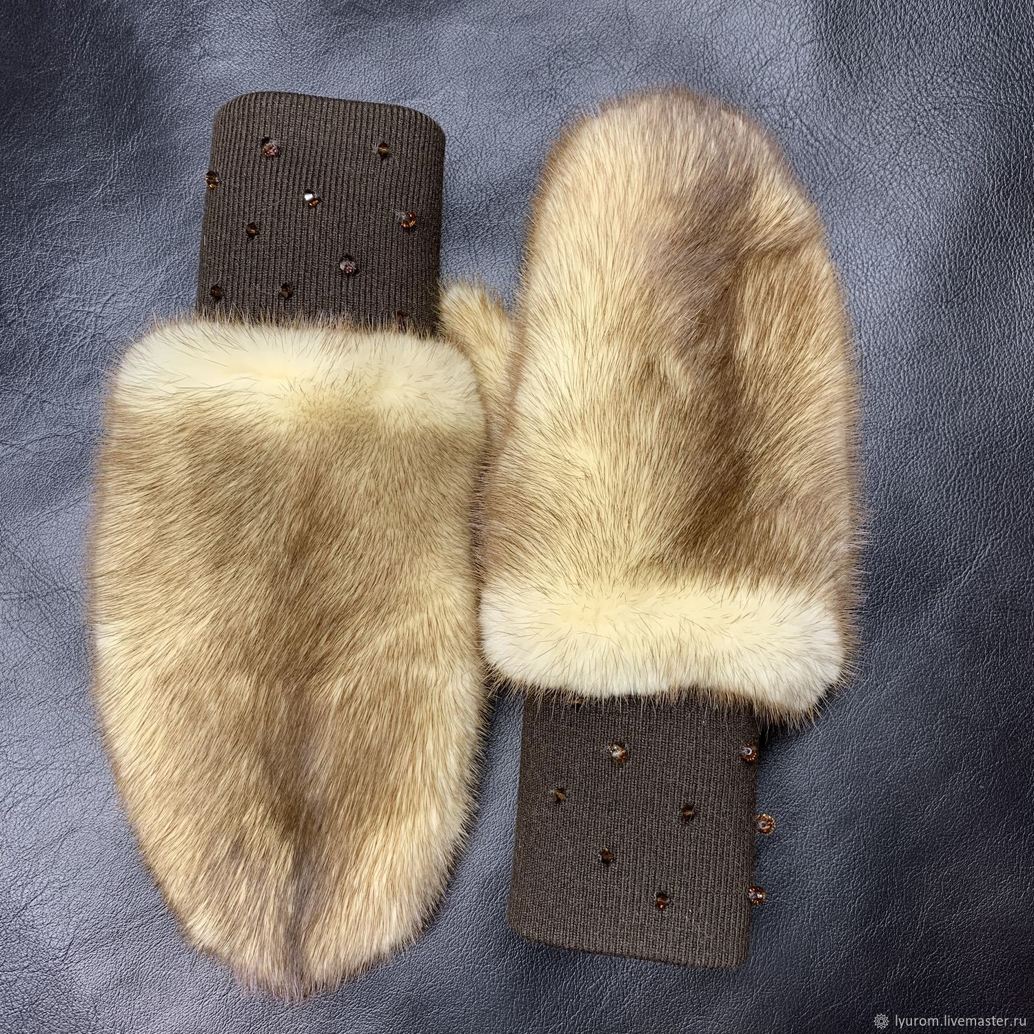 Mitten made of mink fur, Mittens, Moscow,  Фото №1