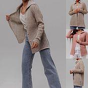 Одежда handmade. Livemaster - original item Yarn-Linen with cotton .Jacket for every day .. Handmade.