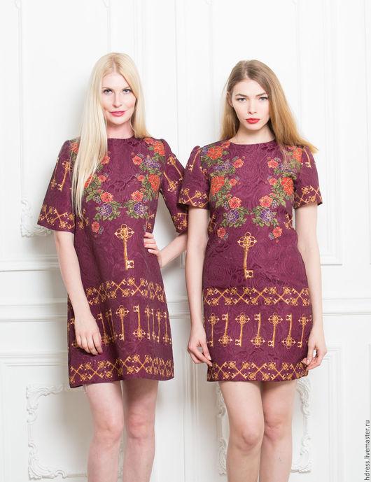 """Платья ручной работы. Ярмарка Мастеров - ручная работа. Купить Платье бордо из ткани """"Dolce&Gabbana"""". Handmade. Платье, платье для отпуска"""