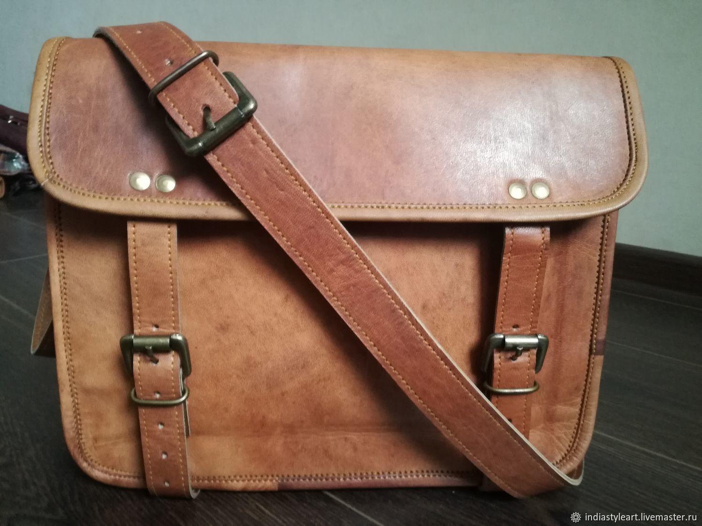 68651157fe03 Мужские сумки ручной работы. Ярмарка Мастеров - ручная работа. Купить  Мужская кожаная сумка.