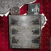 Для дома и интерьера ручной работы. Ярмарка Мастеров - ручная работа Старинный Комодик с 3-мя ящиками 62-30-70см. Handmade.