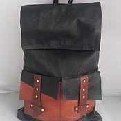 Украшения ручной работы. Ярмарка Мастеров - ручная работа Кожаный рюкзак. Handmade.